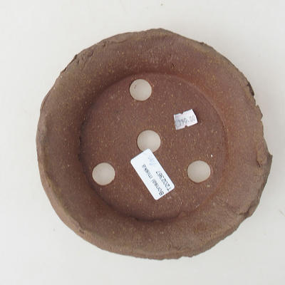 Keramik Bonsai Schüssel 15 x 15 x 4,5 cm, graue Farbe - 2. Qualität - 3