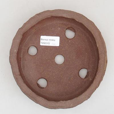 Keramische Bonsai-Schale 17 x 17 x 4 cm, graue Farbe - 2. Qualität - 3