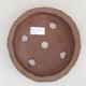 Keramische Bonsai-Schale 17 x 17 x 4 cm, graue Farbe - 2. Qualität - 3/3