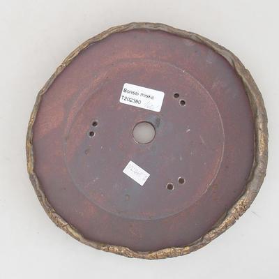 Keramik Bonsai Schüssel 19 x 19 x 4 cm, graue Farbe - 2. Qualität - 3