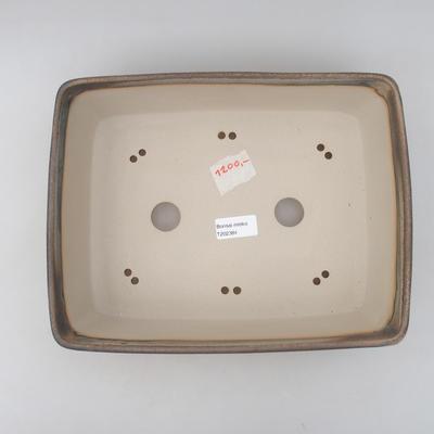 Bonsai-Schale 30 x 23 x 8,5 cm, graue Farbe - 3