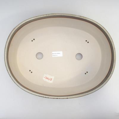 Bonsai-Schale 36 x 27,5 x 10 cm, grau-beige Farbe - 3