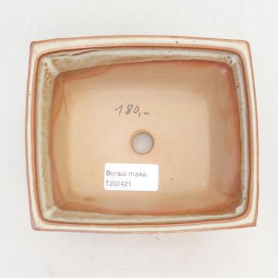 Bonsai-Schale 14,5 x 12 x 7 cm, braun-beige Farbe - 3