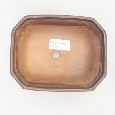 Bonsai-Schale 14,5 x 12 x 6,5 cm, braune Farbe - 3