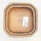 Bonsai-Schale 11 x 11 x 6,5 cm, Farbe braun-beige - 3/3