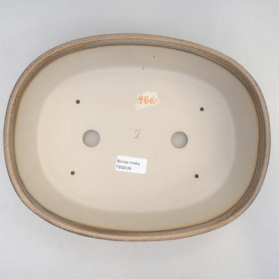 Bonsai-Schale 29,5 x 23 x 8 cm, braun-beige Farbe - 3