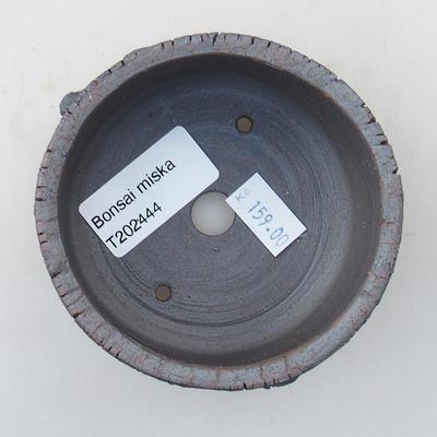Keramische Bonsai-Schale 8,5 x 8,5 x 4,5 cm, Farbe rissig - 3