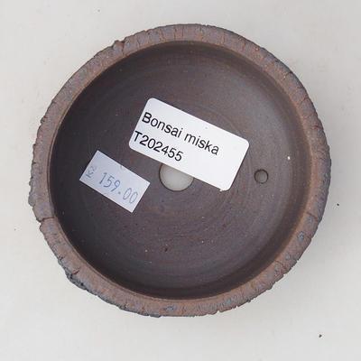 Keramische Bonsai-Schale 8,5 x 8,5 x 4 cm, Farbe rissig - 3