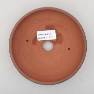 Keramische Bonsai-Schale 14,5 x 14,5 x 3,5 cm, Farbe rissig - 3
