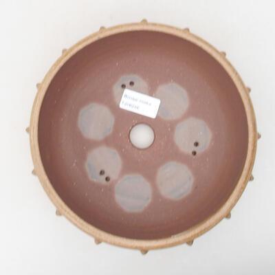 Keramische Bonsai-Schale 19,5 x 19,5 x 7,5 cm, braune Farbe - 3