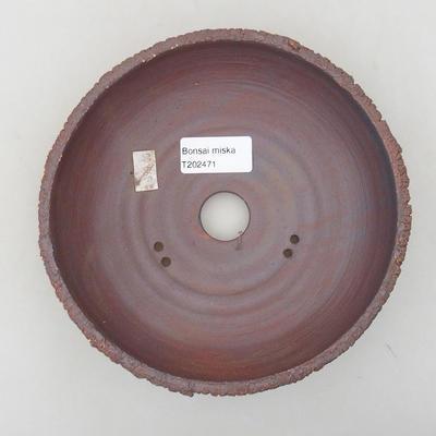 Keramische Bonsai-Schale 17,5 x 17,5 x 5 cm, rissige Farbe - 3