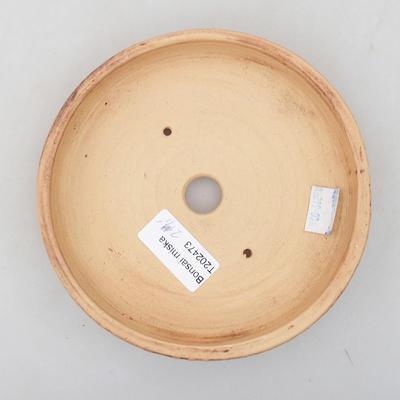 Keramische Bonsai-Schale 14,5 x 14,5 x 3 cm, rissige Farbe - 3