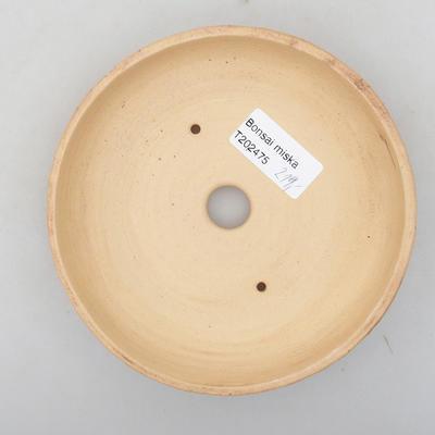 Keramik Bonsai Schüssel 14 x 14 x 3 cm, Farbe rissig - 3