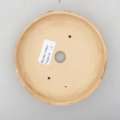 Keramik Bonsai Schüssel 14 x 14 x 2,5 cm, Farbe rissig - 3