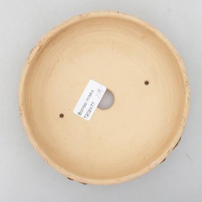 Keramische Bonsai-Schale 15,5 x 15,5 x 4 cm, rissige Farbe - 3