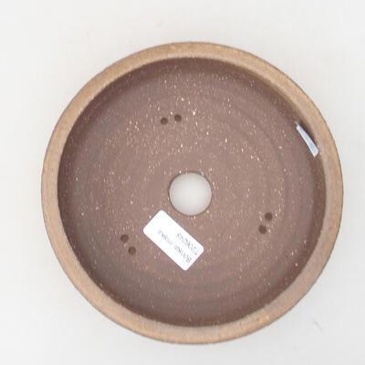 Keramische Bonsai-Schale 17,5 x 17,5 x 5 cm, braune Farbe - 3