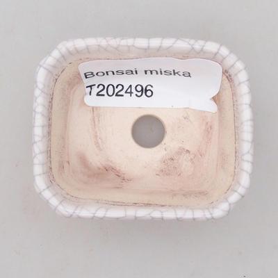 Keramik Bonsaischale 2. Wahl - 22 x 16 x 7,5 cm, braun-grüne Farbe - 3