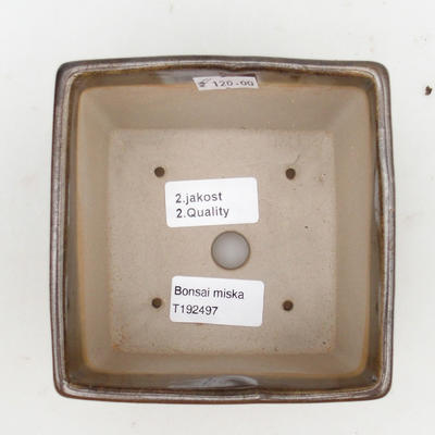 Keramik Bonsaischale 2. Wahl - 11 x 11 x 8,5 cm, Farbe grün - 3