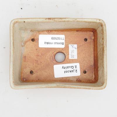 Keramik Bonsaischale 2. Wahl -12,5 x 9 x 4 cm, Farbe grau - 3