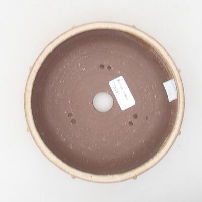 Keramische Bonsai-Schale 17,5 x 17,5 x 5,5 cm, beige Farbe - 3