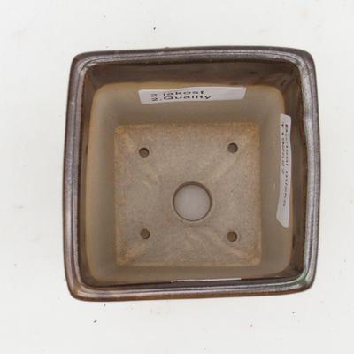 Bonsaischale aus Keramik 2. Wahl - 8 x 8 x 10 cm, Farbe grün - 3