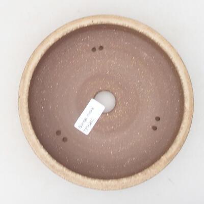 Bonsai-Keramikschale 18 x 18 x 4,5 cm, beige Farbe - 3