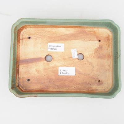 Keramik Bonsaischale 2. Wahl - 23,5 x 17 x 4,5 cm, braun-grüne Farbe - 3