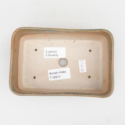 Keramik Bonsai Schüssel 2. Wahl - 16 x 10 x 5,5 cm, braune Farbe - 3