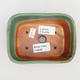 Keramik Bonsaischale 2. Wahl - 13 x 10 x 5,5 cm, braun-grüne Farbe - 3/4