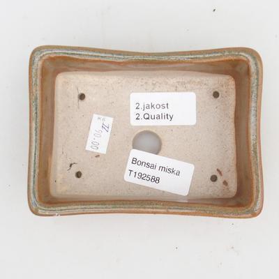 Keramik Bonsaischale 2. Wahl - 12 x 9 x 3,5 cm, Farbe grau - 3