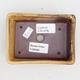 Keramik Bonsaischale 2. Wahl - 12 x 9 x 3,5 cm, braun-gelbe Farbe - 3/4