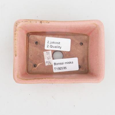 Keramik Bonsai Schüssel 2. Wahl - 12 x 8 x 4 cm, rosa Farbe - 3