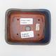 Bonsaischale aus Keramik 2. Wahl - 12 x 10 x 4 cm, Farbe braun-blau - 3/4
