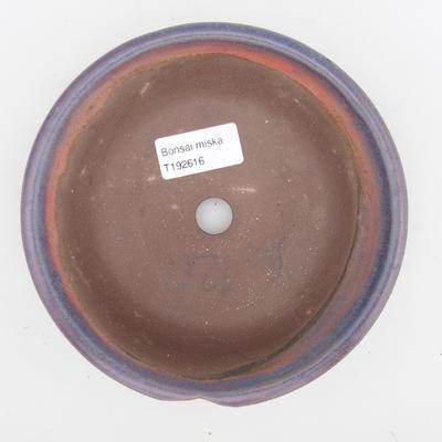 Keramik Bonsai Schüssel 2. Wahl - 16 x 16 x 4 cm, blaue Farbe - 3