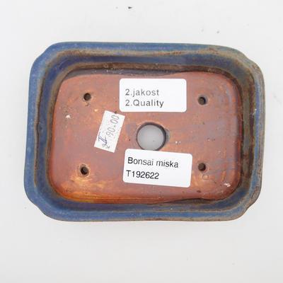 Bonsaischale aus Keramik 2. Wahl - 12 x 9 x 3 cm, Farbe braun-blau - 3