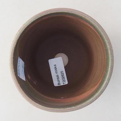 Keramik Bonsai Schüssel 10 x 10 x 9 cm, Farbe grün - 3
