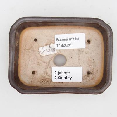 Keramik Bonsai Schüssel 2. Wahl - 12 x 9 x 3 cm, braune Farbe - 3