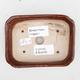 Keramik Bonsai Schüssel 2. Wahl - 12 x 9 x 3 cm, braune Farbe - 3/4