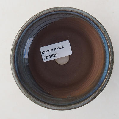 Keramische Bonsai-Schale 9,5 x 9,5 x 8 cm, Farbe blau - 3