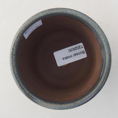 Keramische Bonsai-Schale 9 x 9 x 8 cm, Farbe blau - 3