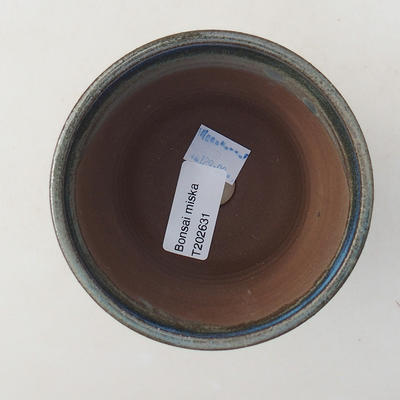 Keramische Bonsai-Schale 10 x 10 x 8,5 cm, Farbe blau - 3