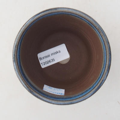 Keramische Bonsai-Schale 9 x 9 x 7,5 cm, Farbe blau - 3