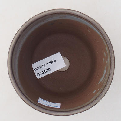 Keramische Bonsai-Schale 9,5 x 9,5 x 8 cm, graue Farbe - 3