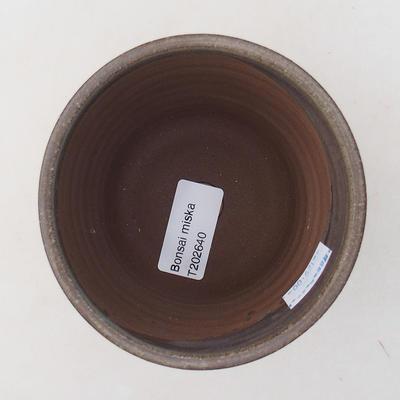 Keramische Bonsai-Schale 9,5 x 9,5 x 9 cm, graue Farbe - 3