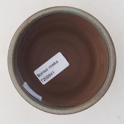 Keramische Bonsai-Schale 9 x 9 x 7 cm, Farbe grau - 3