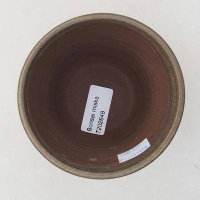 Keramik Bonsai Schüssel 10 x 10 x 9 cm, Farbe braun - 3