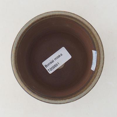 Keramische Bonsai-Schale 9,5 x 9,5 x 8,5 cm, braune Farbe - 3