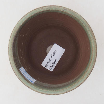 Keramische Bonsai-Schale 9 x 9 x 8,5 cm, Farbe grün - 3