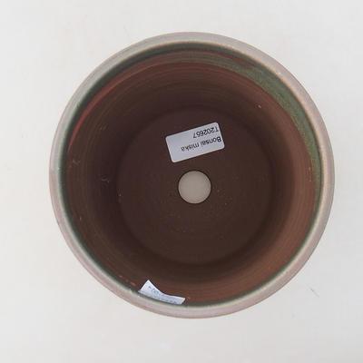 Keramik Bonsai Schüssel 14 x 14 x 16 cm, Farbe grün - 3
