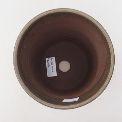 Keramische Bonsai-Schale 13 x 13 x 16,5 cm, braune Farbe - 3